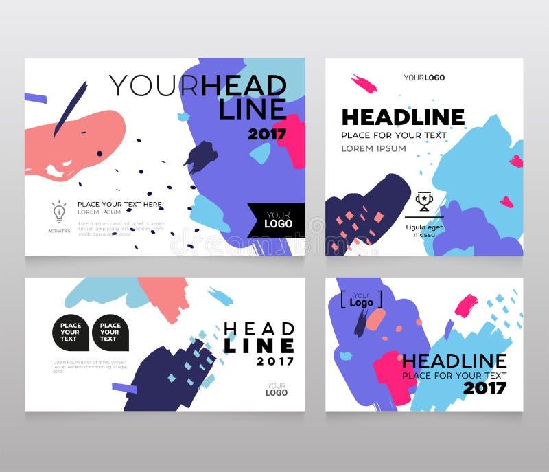 Bannière de titre - ensemble moderne de vecteur d'images abstraites illustration libre de droits