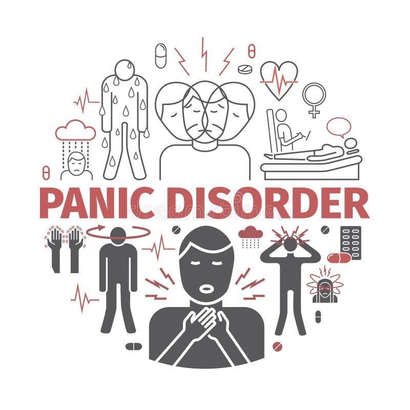 Bannière de trouble panique Illustration de vecteur illustration libre de droits