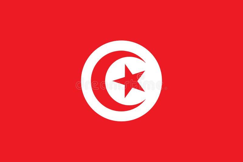 Bannière de vecteur de drapeau de la Tunisie illustration libre de droits