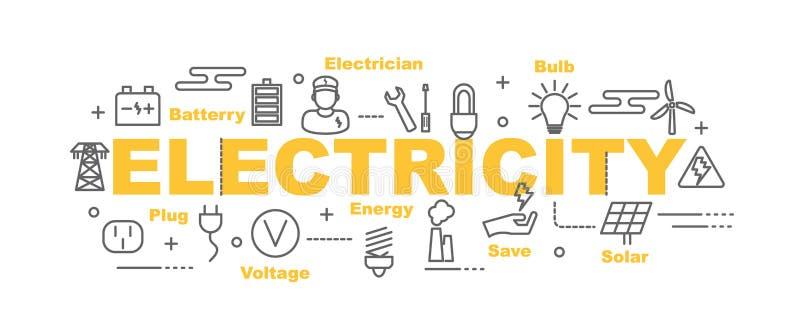 Bannière de vecteur de l'électricité illustration de vecteur