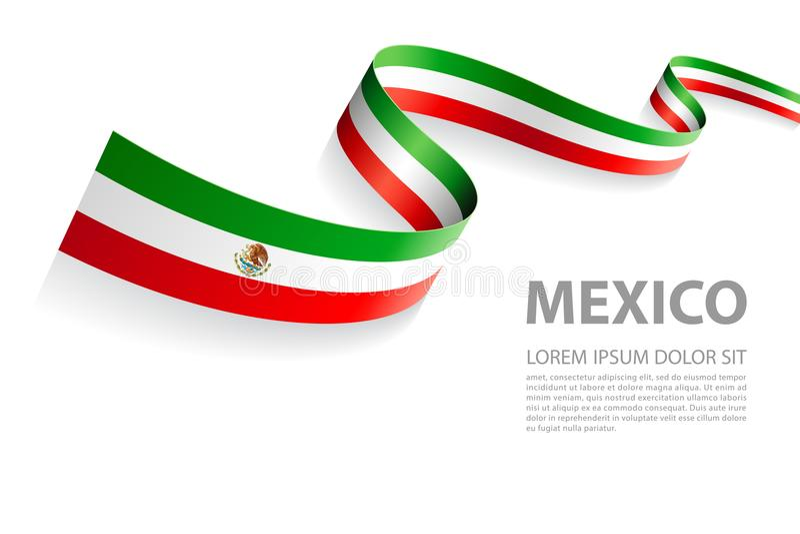 Bannière de vecteur de drapeau mexicain illustration stock