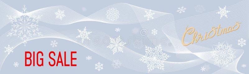 Bannière de vecteur pour Noël et NY illustration libre de droits
