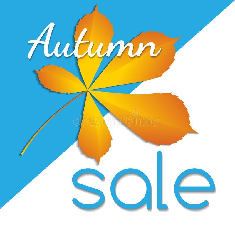 Bannière de vente d'automne illustration de vecteur
