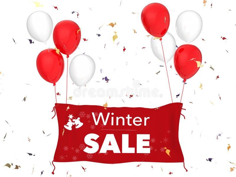 Bannière de vente d'hiver images libres de droits