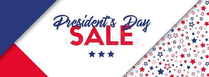 Bannière de vente des Présidents Day illustration libre de droits