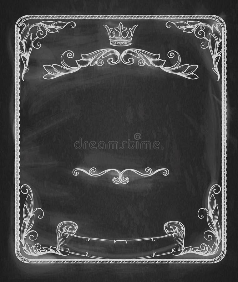 Bannière de vintage illustration stock