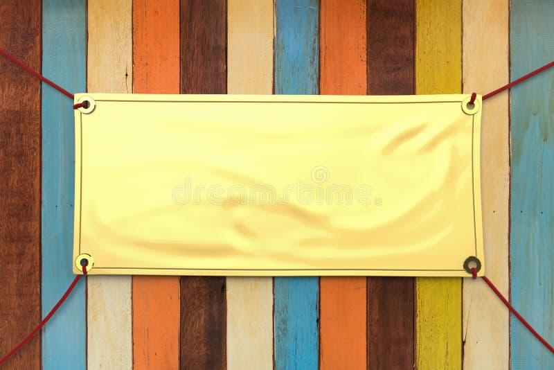 Bannière de vinyle d'or photographie stock