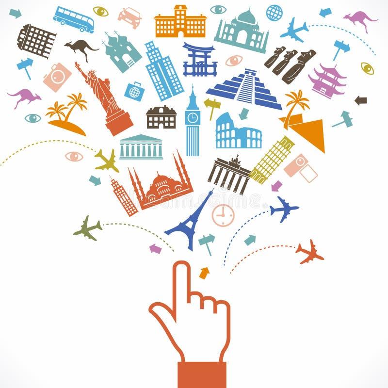 Bannière de voyage illustration libre de droits