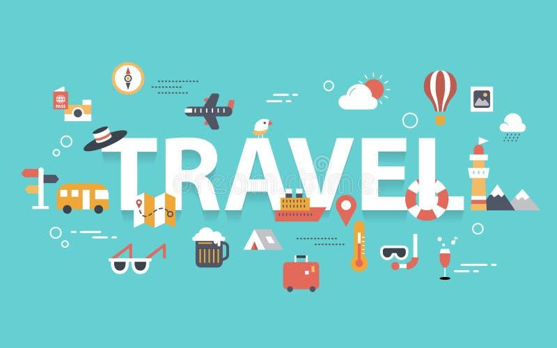 Bannière de voyage image stock