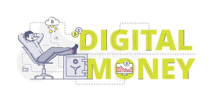 Bannière de Web d'argent de Digital illustration stock