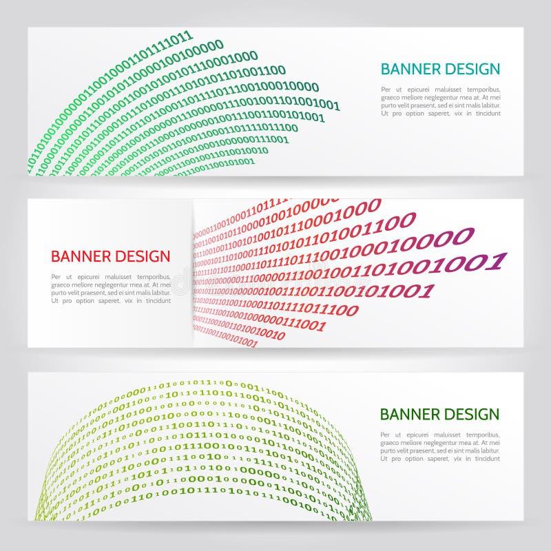 Bannière de Web de Digital illustration stock