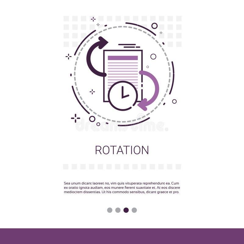 Bannière de Web de procédé d'application de mise à jour de rotation avec l'espace de copie illustration de vecteur