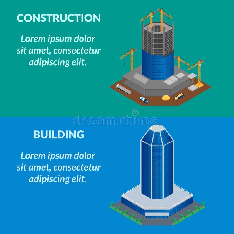 Bannière de Web - le chantier de construction illustration stock