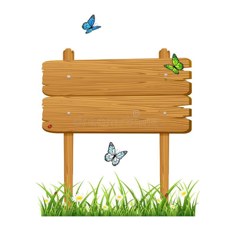 Bannière en bois illustration stock