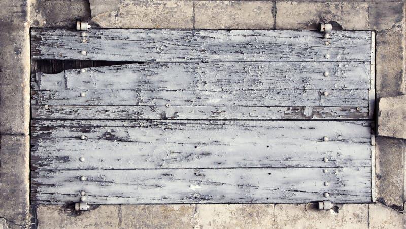 Bannière en bois de panneau image libre de droits