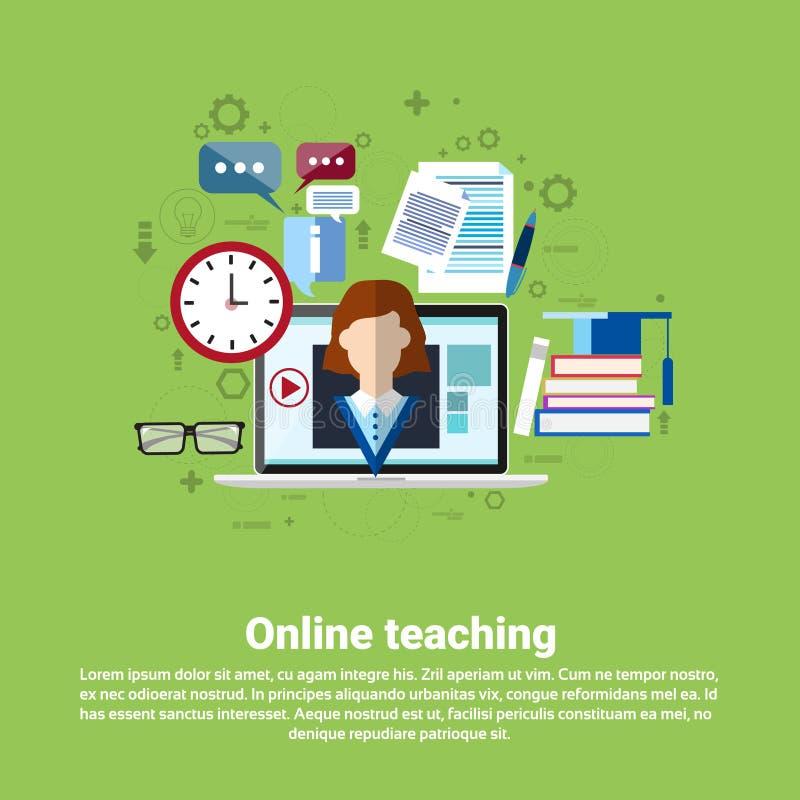 Bannière en ligne de enseignement d'éducation de Web illustration libre de droits
