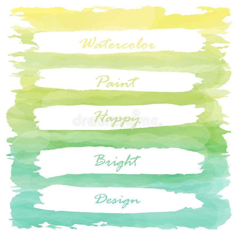 Bannière En Pastel De Peinture D'Amour Vert Jaune-Clair