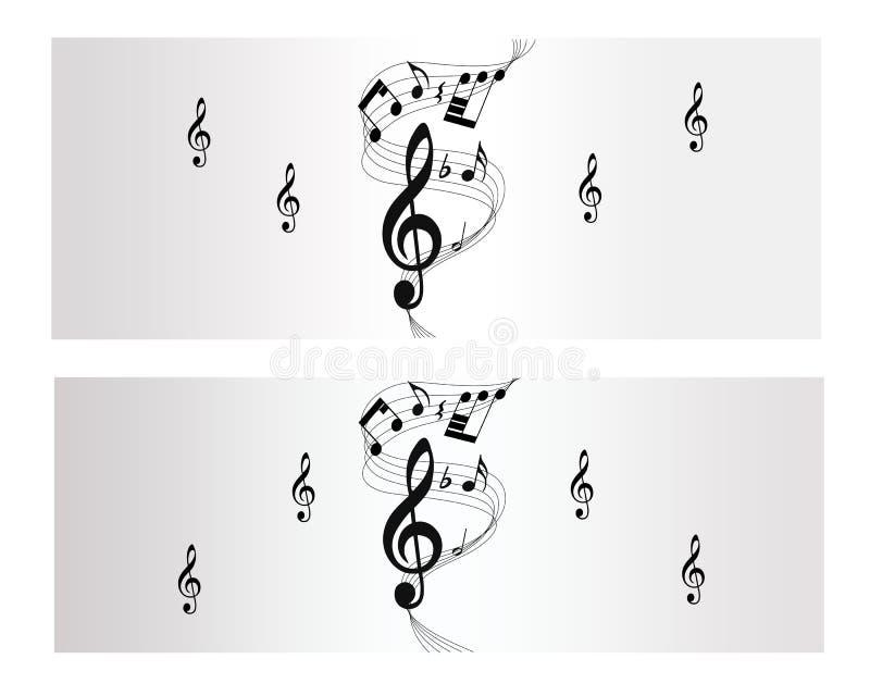 Bannière De Vecteur De Mélodie, De Note Et De Musique Image libre de droits