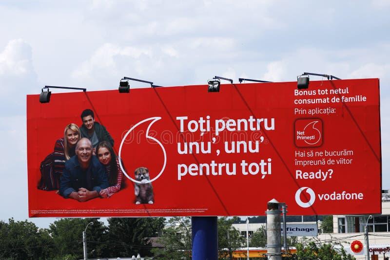 Bannière extérieure de Vodafone photos libres de droits