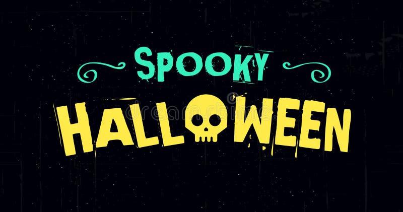 Bannière fantasmagorique d'illustration de vecteur de Halloween avec un fond foncé conception de l'avant-projet créative illustration stock