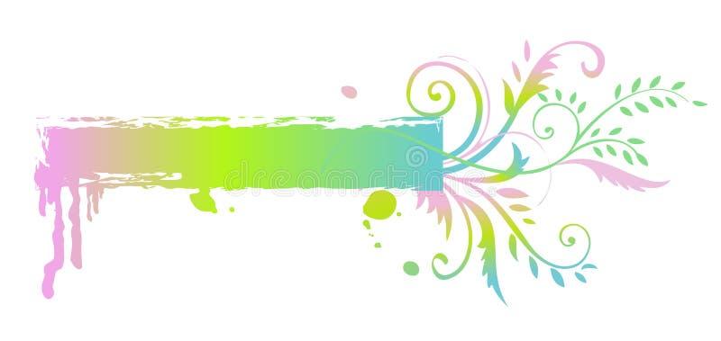 Bannière florale d'arc-en-ciel illustration libre de droits
