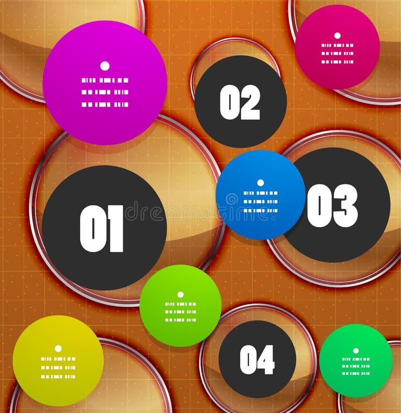 Bannière géométrique d'option d'étapes d'Infographics illustration libre de droits