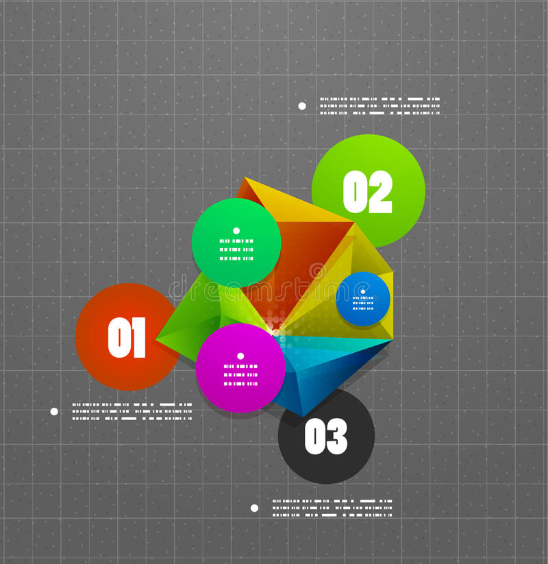 Bannière géométrique d'option d'étapes d'Infographics illustration stock