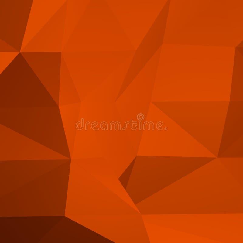 Bannière géométrique orange de modèle de braise illustration stock