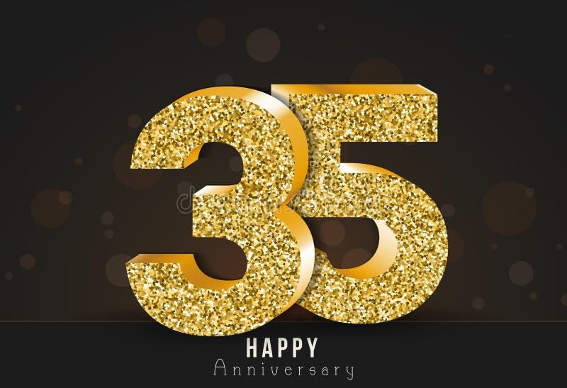20 - bannière heureuse d'anniversaire d'année 20ème logo d'or d'anniversaire sur le fond foncé illustration libre de droits