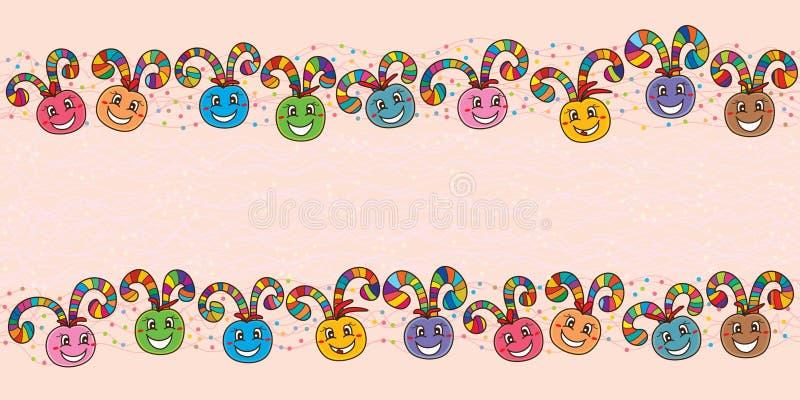 Download Bannière Heureuse De Remous De Boule Colorée Illustration de Vecteur - Illustration du événement, ballon: 56483888