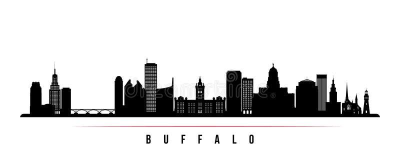Bannière horizontale d'horizon de ville de Buffalo illustration de vecteur