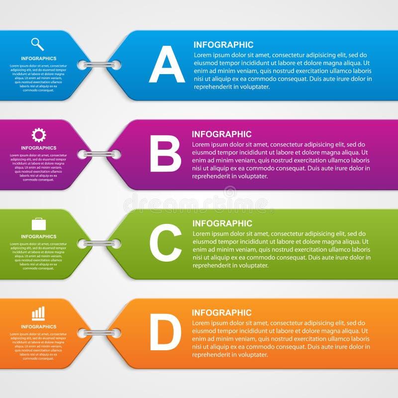 Bannière infographic abstraite d'options Éléments de conception illustration de vecteur