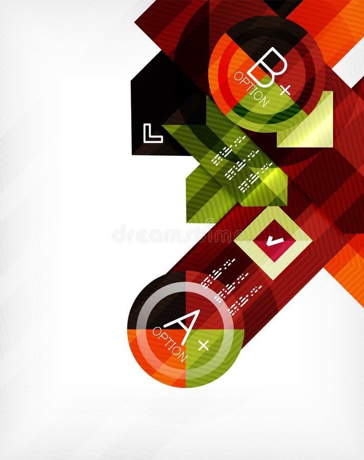Bannière infographic géométrique d'option d'affaires illustration libre de droits