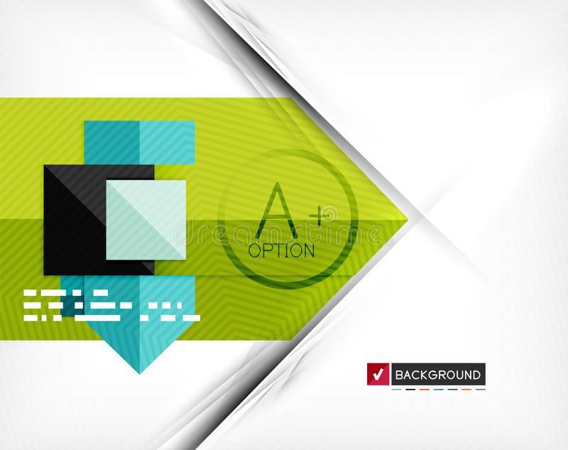 Bannière infographic géométrique d'option d'affaires illustration de vecteur