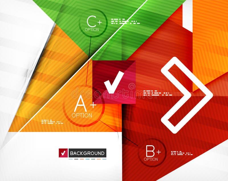 Bannière infographic géométrique d'option d'affaires illustration stock