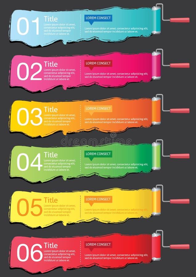 Bannière Infographics illustration libre de droits