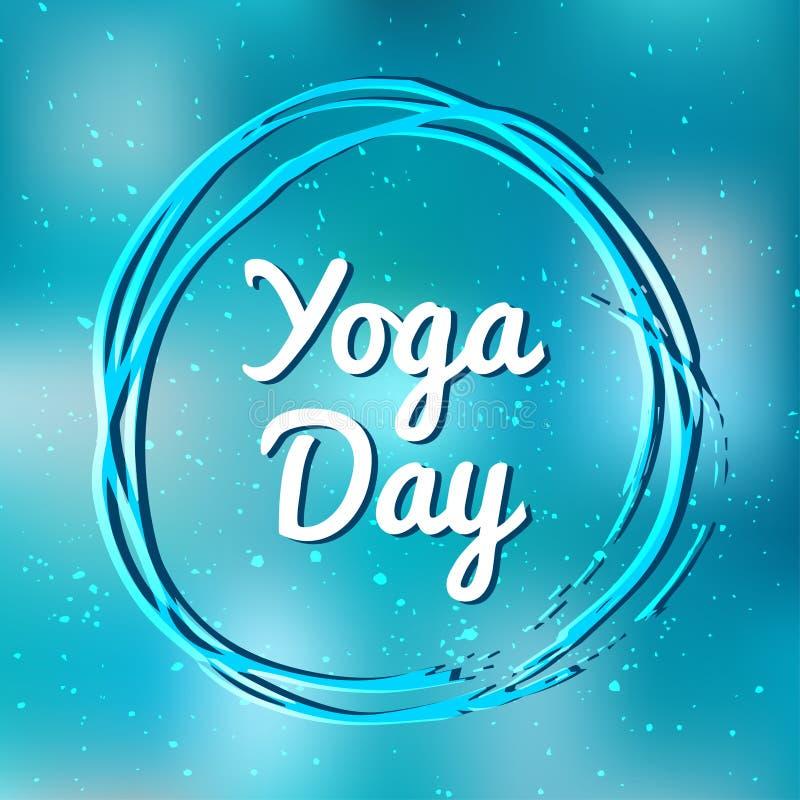Bannière internationale d'illustration de vecteur de jour de yoga illustration libre de droits