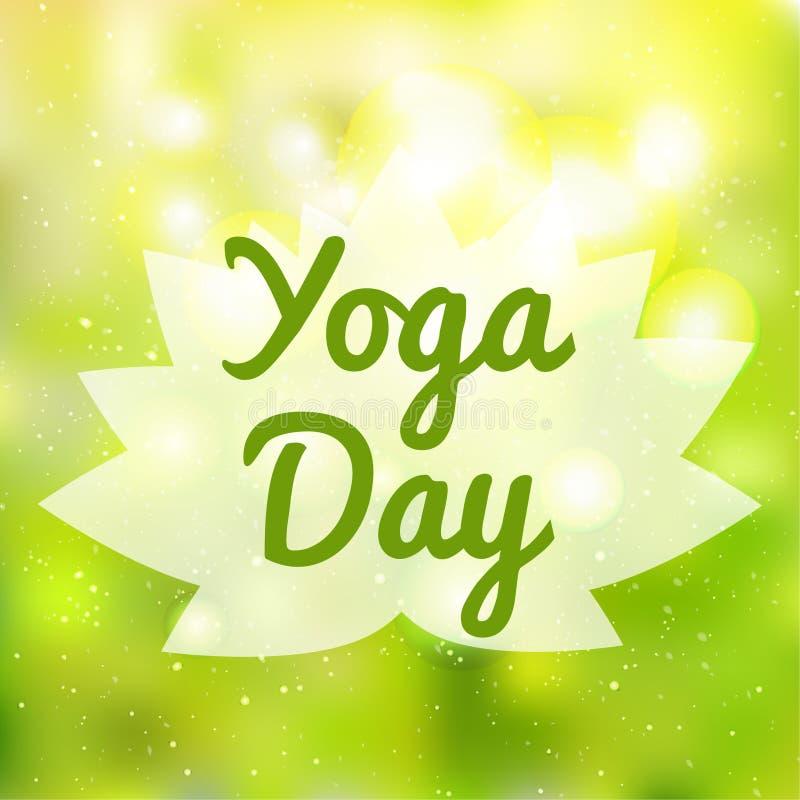 Bannière internationale d'illustration de vecteur de jour de yoga illustration de vecteur