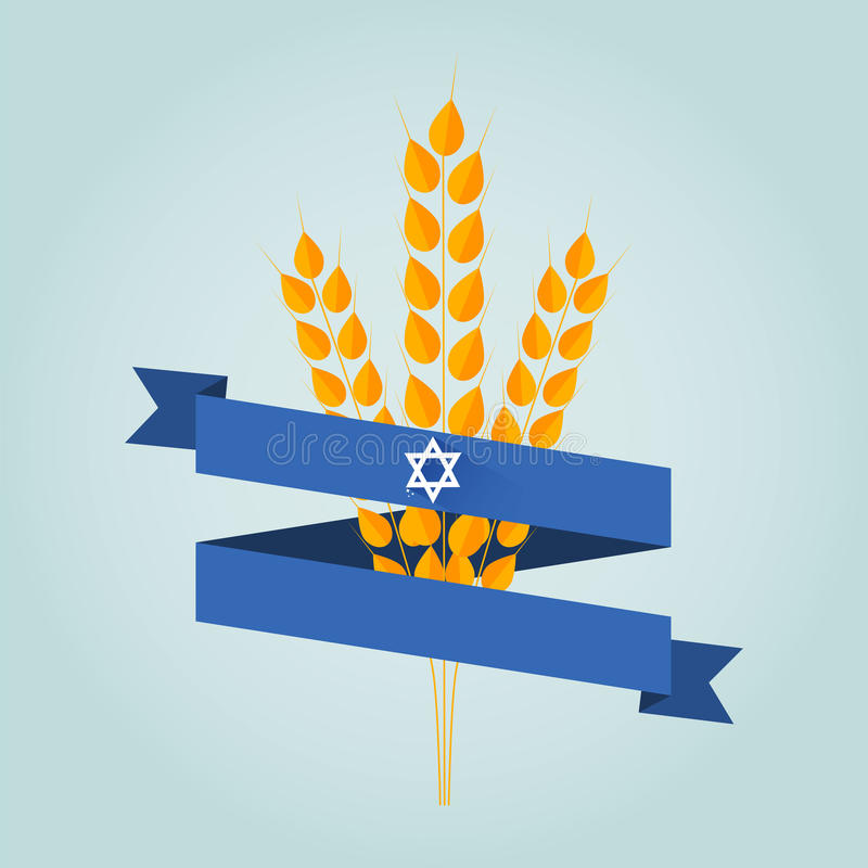 Bannière juive de shavuot de vacances illustration de vecteur