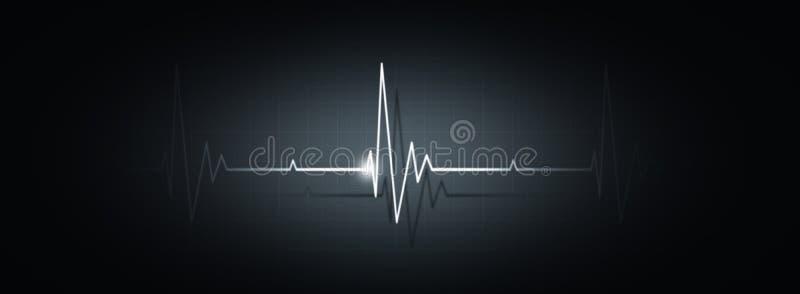 Bannière médicale de battement de coeur illustration de vecteur