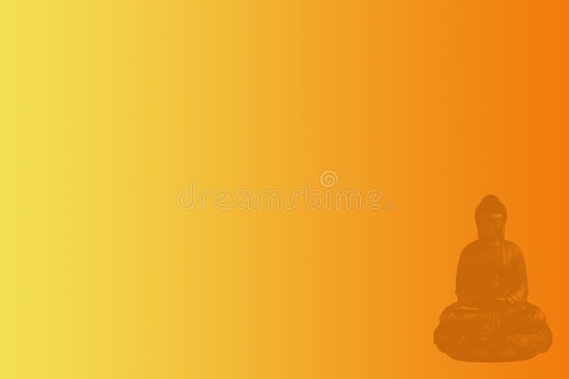 Bannière méditante de Web de Bouddha illustration libre de droits