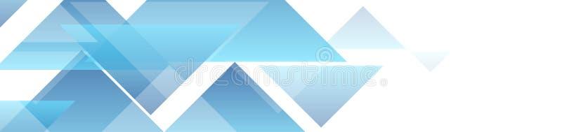 Bannière minimale abstraite de la géométrie de technologie bleue de triangles illustration libre de droits