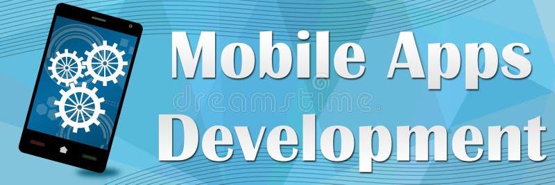 Bannière mobile de développement d'Apps illustration de vecteur