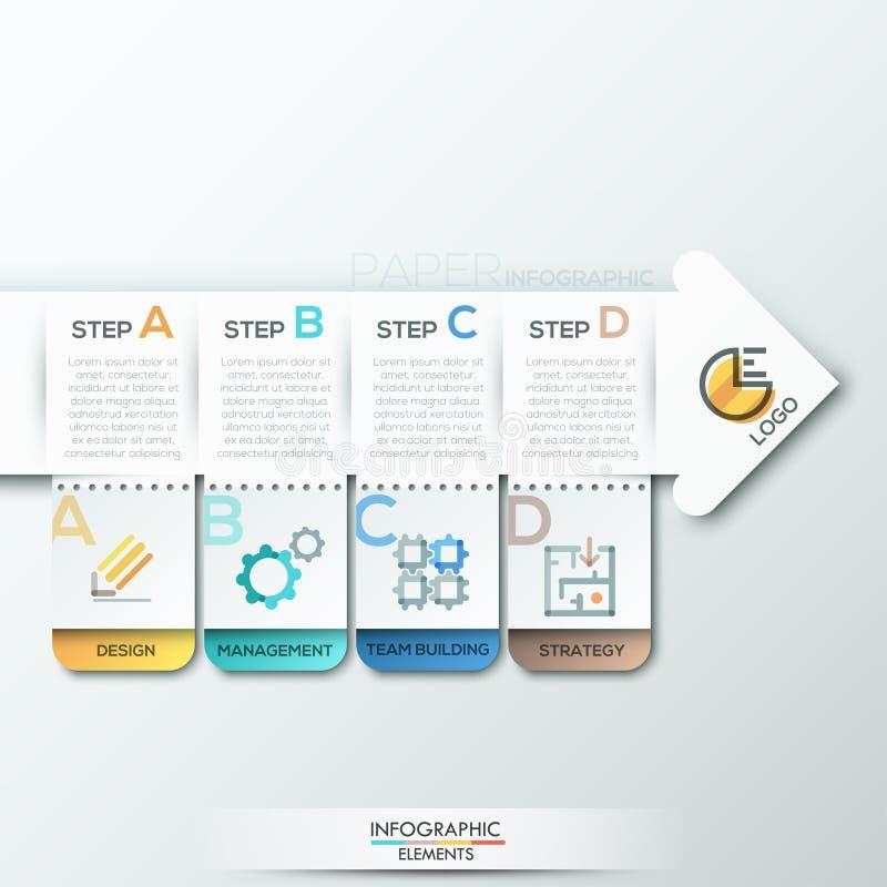 Bannière moderne d'options d'infographics illustration de vecteur