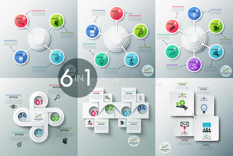 Bannière moderne d'options d'infographics illustration stock