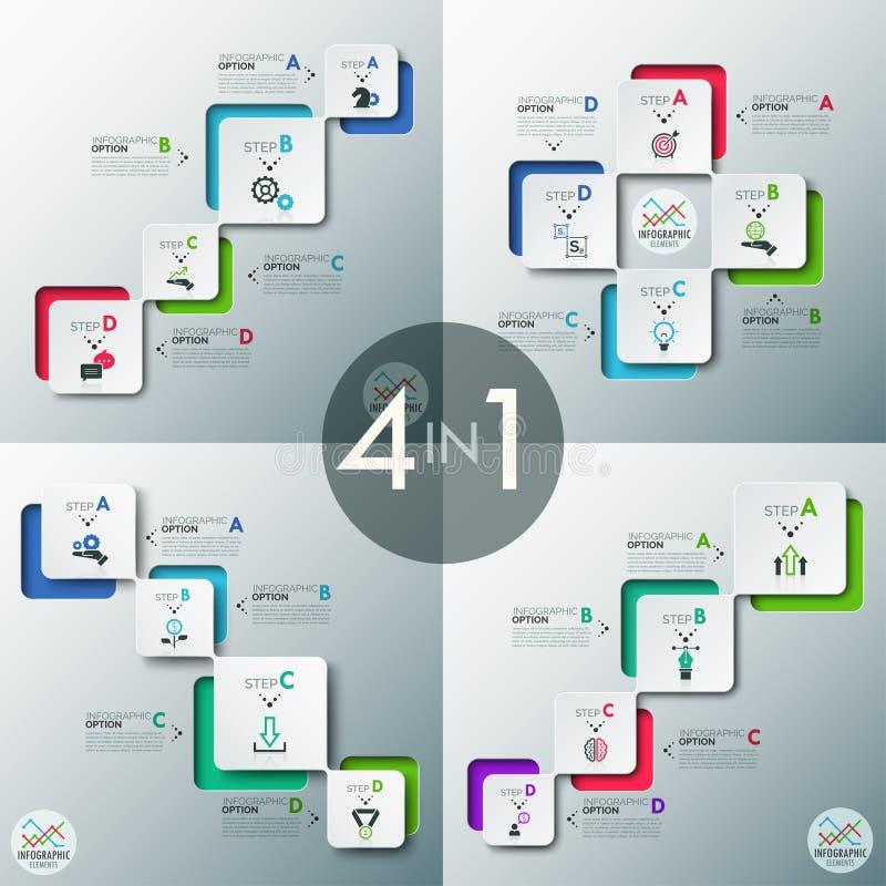 Bannière moderne d'options d'infographics illustration libre de droits