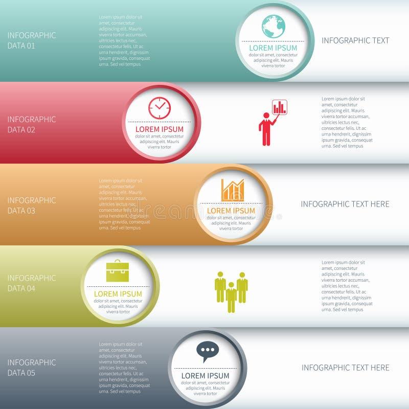 Bannière moderne d'options d'infographics d'affaires. illustration de vecteur
