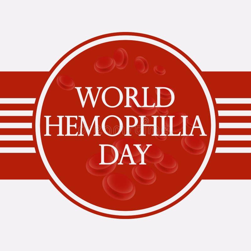 Bannière moderne de concept de jour d'hémophilie du monde Illustration de vecteur illustration de vecteur