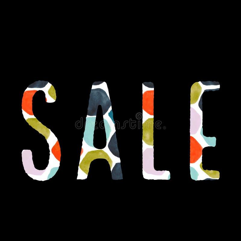 Bannière multiple de vente de couleur illustration stock