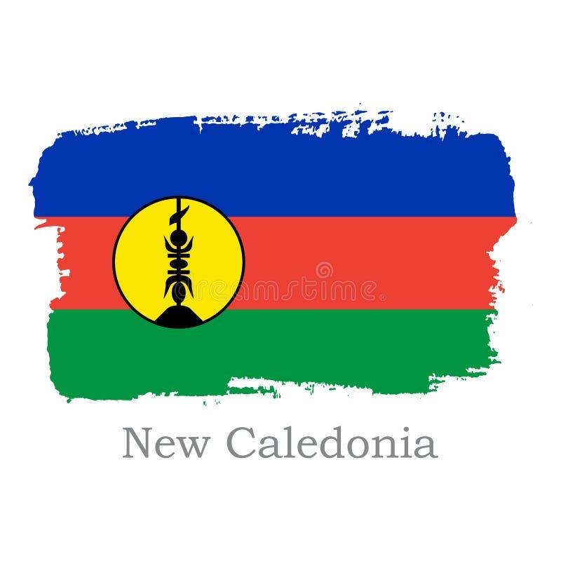 Bannière nationale de la Nouvelle-Calédonie pour la conception illustration stock